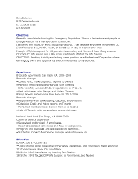 Sample Resume Objectives For Volunteer Nurse by Dispatcher Resume Objective Examples Free Resume Example And