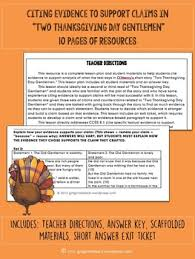 two thanksgiving day gentlemen cite textual evidence by