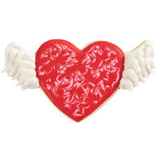 Hearts With Wings - with wings cookies wilton
