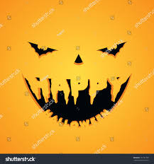 spooky symbols halloween scary face text fangs eyes stock vector 151797728