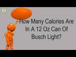 busch light calories and carbs how many calories are in a 12 oz can of busch light youtube