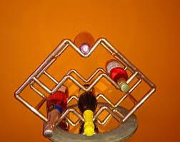 copper wine rack etsy
