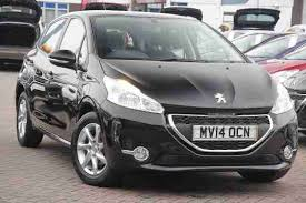 black peugeot for sale peugeot 2014 208 5 door 1 2 vti 82 active black car for sale
