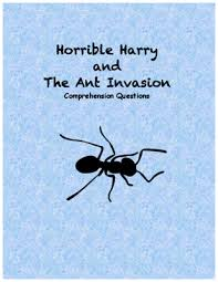 horrible harry and the ant comprehension questions