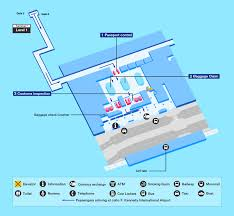 Atlanta Airport Gate Map by Airport Guide International At The Airport In Flight