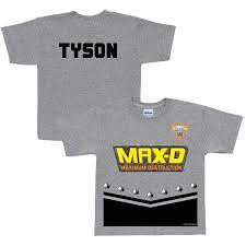 personalized monster jam max uniform toddler boys u0027 shirt grey