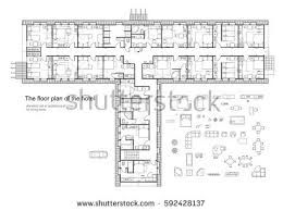 Floor Plan Standards Black White Floor Plan Modern Apartment Stock Vector 595766405