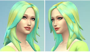 sims 4 blue hair the simsperience yellow blue faded hair sims 4 downloads