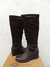 nib ugg australia emalie wedge waterproof ankle boot black zip ugg australia lesley waterproof wedge boots us 10b 41 ebay