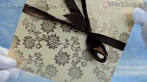 Invitation Printing Services Dubai Wedding Cards Printing Uae Youtube