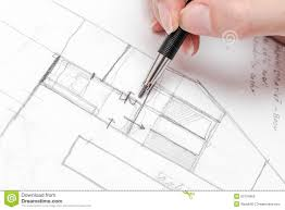 drawing floor plans by hand architect hand drawing house plan sketch stock photo image 50734962