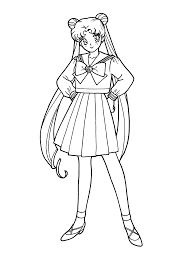 sailor moon coloring pages front kiddypicts