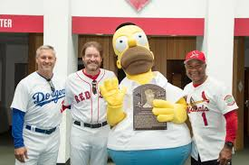 homer simpson gets inducted into baseball hall of fame in honor of