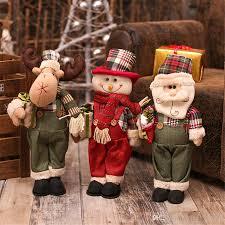 new year 2017 cheap christmas dolls large santa snowman figurine
