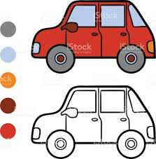 coloring book for kids car stock vector art 687758776 istock