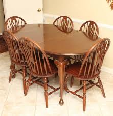 queen anne style dining table with six windsor chairs ebth