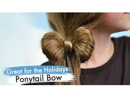 every day high hair for 50 year old ponytail bow back to school cute girls hairstyles youtube