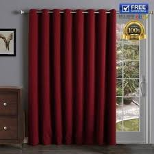 Curtain Patio Door Sliding Barn Door Panels Thermal Insulated Blackout Curtains Patio