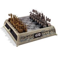 star wars chess sets the star wars rebels vs empire chess set hammacher schlemmer