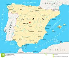 spain on a map spain map royalty free stock photography image 31930827