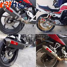 new cbr 600 new 51mm modified motorcycle exhaust pipe carbon fiber head
