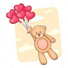 palloncini clipart orsetto con palloncini cuore rosso â foto stock â chistoprudnaya