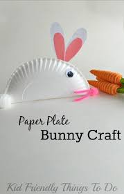 fun and easy paper plate bunny craft for kids crafts crafts for
