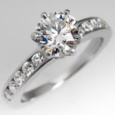 tiffany setting rings images The tiffany setting with diamond band engagement ring jpg