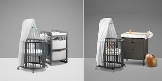 Grey Convertible Crib by Stokke Sleepi Convertible Crib Now Available In Hazy Grey And