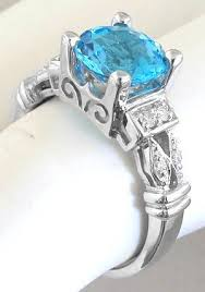 blue topaz engagement rings blue topaz rings in 14k white gold gr 6038