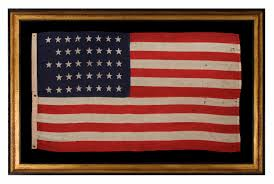 State Flag Of Colorado Jeff Bridgman Antique Flags And Painted Furniture 38 Stars In A