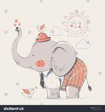 elephant suit hand drawn vector illustrationcan stock vector