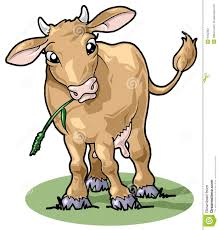 cute smiling cow cartoon style stock photography image 6462382