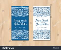 wedding invitation card template vintage lace stock vector