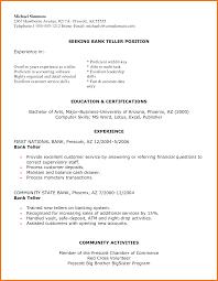 bank teller resume sow template