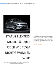 Einbauk Hen Gut Und G Stig Status Elektromobilität 2016 Oder Wie Tesla Nicht Gewinnen Wird