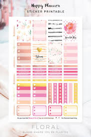 homemade planner templates 1066 best diy planner stickers images on pinterest free planner happy planner free floral sticker printable chic life design newsletter subscription required