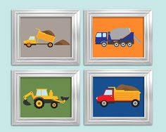 Transportation Nursery Decor Construction Transportation Boy Prints 4 8x10 Custom