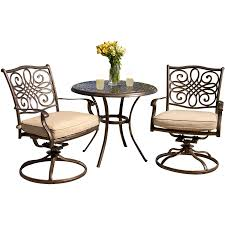 Outdoor Bistro Chairs Traditions 3 Piece Bistro Set Traditions3pcsw