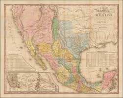 Guadalupe Mexico Map by Tanner U0027s Map Of Mexico Rare U0026 Antique Maps