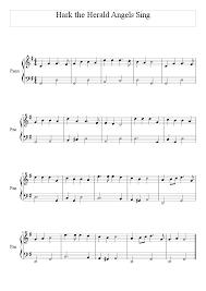 Piano Key Notes Hark The Herald Angels Sing Mastering Christmas Carols On The