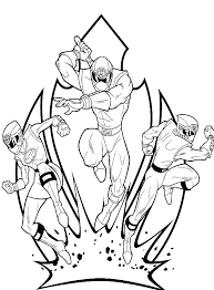 power rangers coloring pages kids super heroes coloring pages