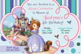 princess sofia birthday invitations ideas u2013 bagvania free
