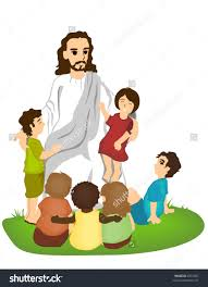 jesus with kids clipart clipartxtras