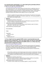 meaningful use risk assessment template