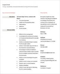 resume for high student pdf simple sle resume exles for highschool students with