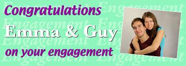 Congratulations Engagement Banner Congratulations Engagement Banner With Photo Personalised Banners