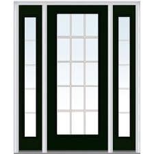 Exterior Door Units Mmi Door 60 In X 80 In Grilles Between Clear Glass Right