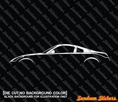 nissan 350z skin from polis 2x car silhouette stickers for nissan 350z z33 japanese