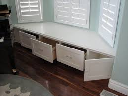 bay window bench be equiped under window shoe storage be equiped